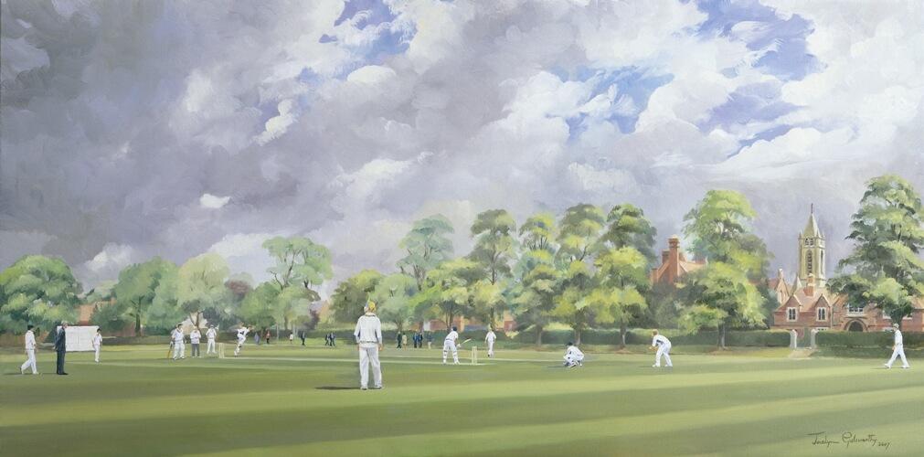 cricket-painting-jocelyn-galsworthy