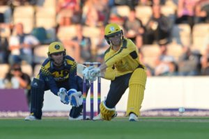 Calvin Dickinson (batting) on T20 debut vs. Glamorgan