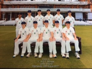 Ben Charlesworth (Second from Left) representing ESCA XI at Lord's
