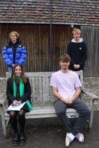 Peer Listeners William Mann, Harvey Machin, Bea Nicholls and Sam Gorton